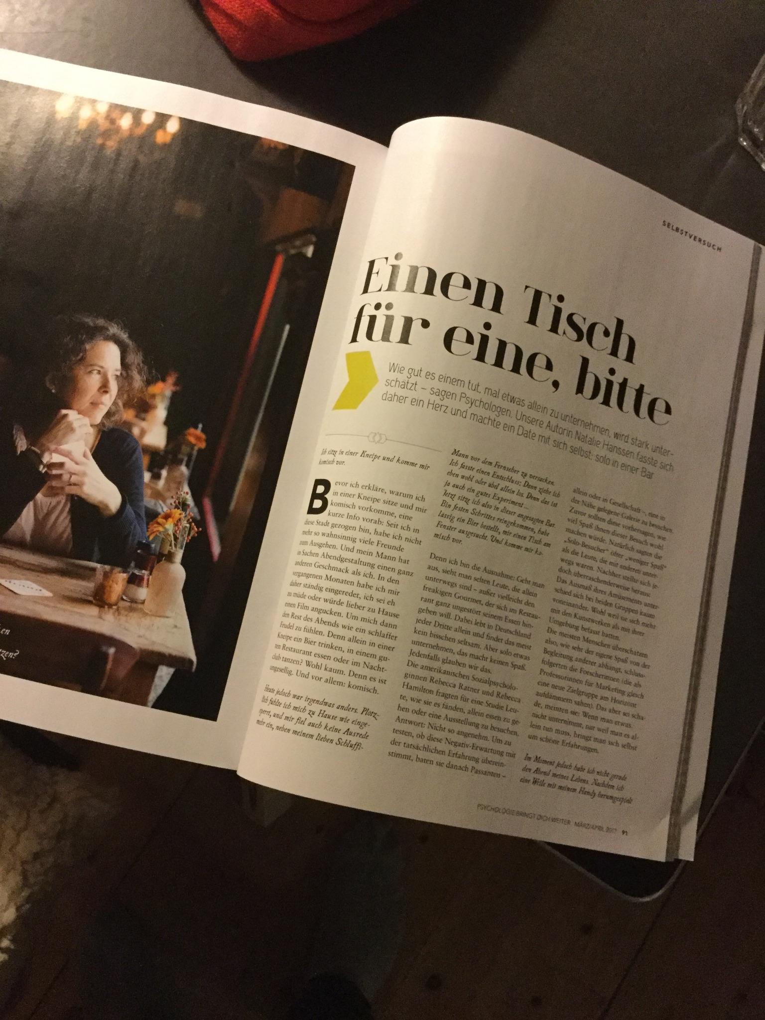 Vertaling van Nederlands artikel voor Duitse Psychologie Magazine